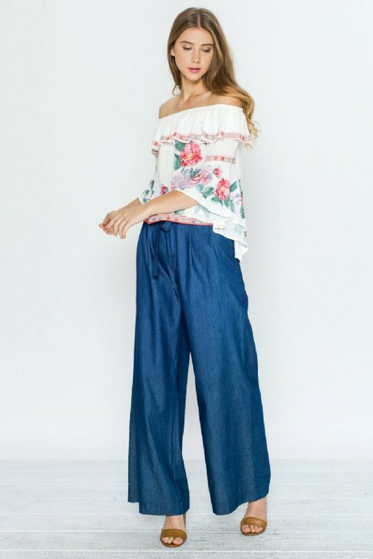 Maxwell Chambray Trousers