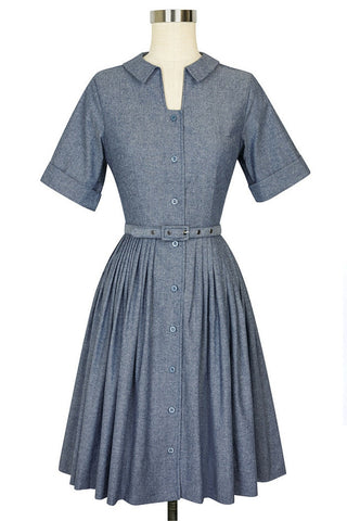 Chambray Shirtwaist Dress