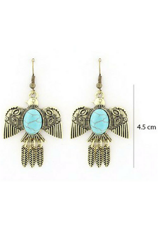 Thunderbird Earrings - Gold