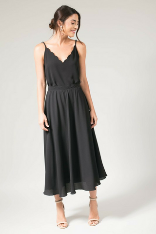 Katrina Midi Skirt - Black