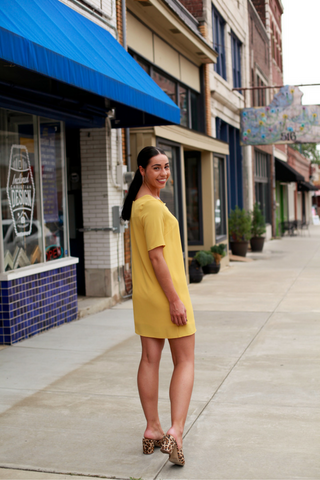 Lawson Shift Dress - Mustard