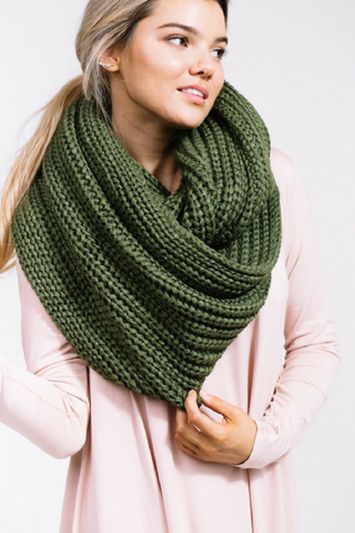 Cozy Up Scarf - Olive