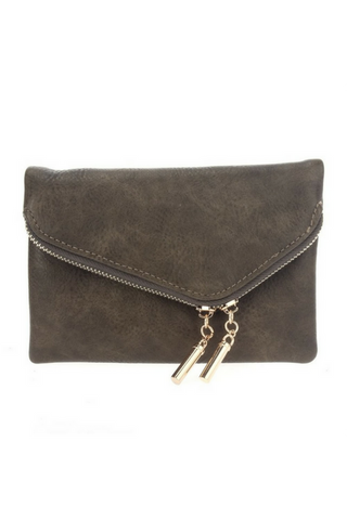 Night Out Clutch - Olive