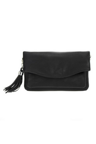 Valerie Tassel Crossbody - Black