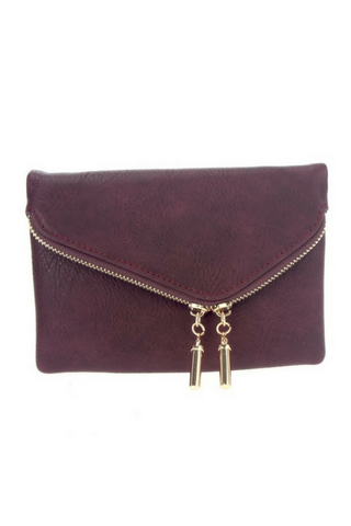 Night Out Clutch - Burgundy