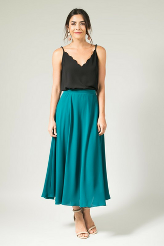 Katrina Midi Skirt - Green