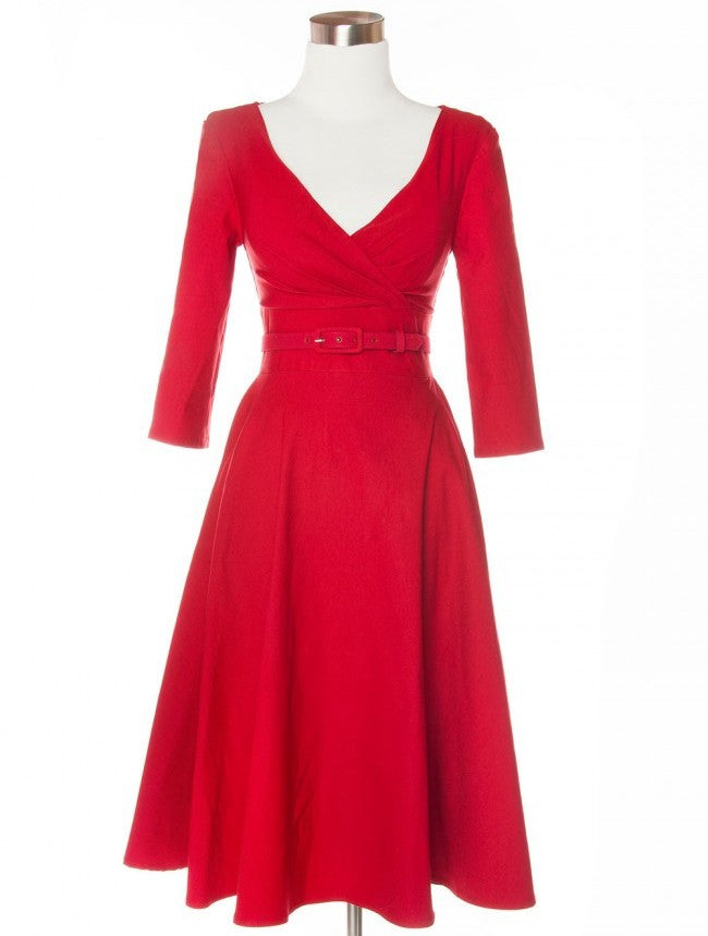 Ruby Swing Dress - Red
