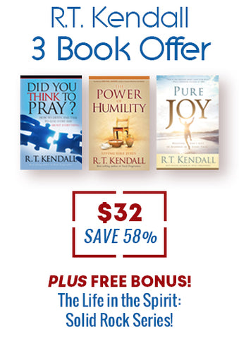 R.T. Kendall 3 Book Offer + FREE BONUS - Solid Rock Series