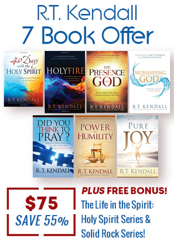 R.T. Kendall 7 Book Offer + FREE BONUS - Holy Spirit & Solid Rock Series