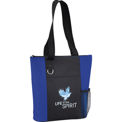 Life In The Spirit Tote Bag + MEV Spiritual Warfare Bible