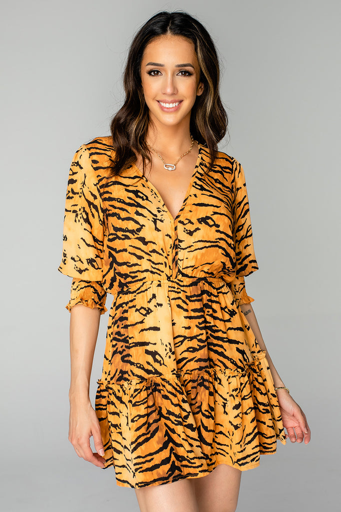 BuddyLove Paltrow Elastic Waist Mini Dress - Bengal