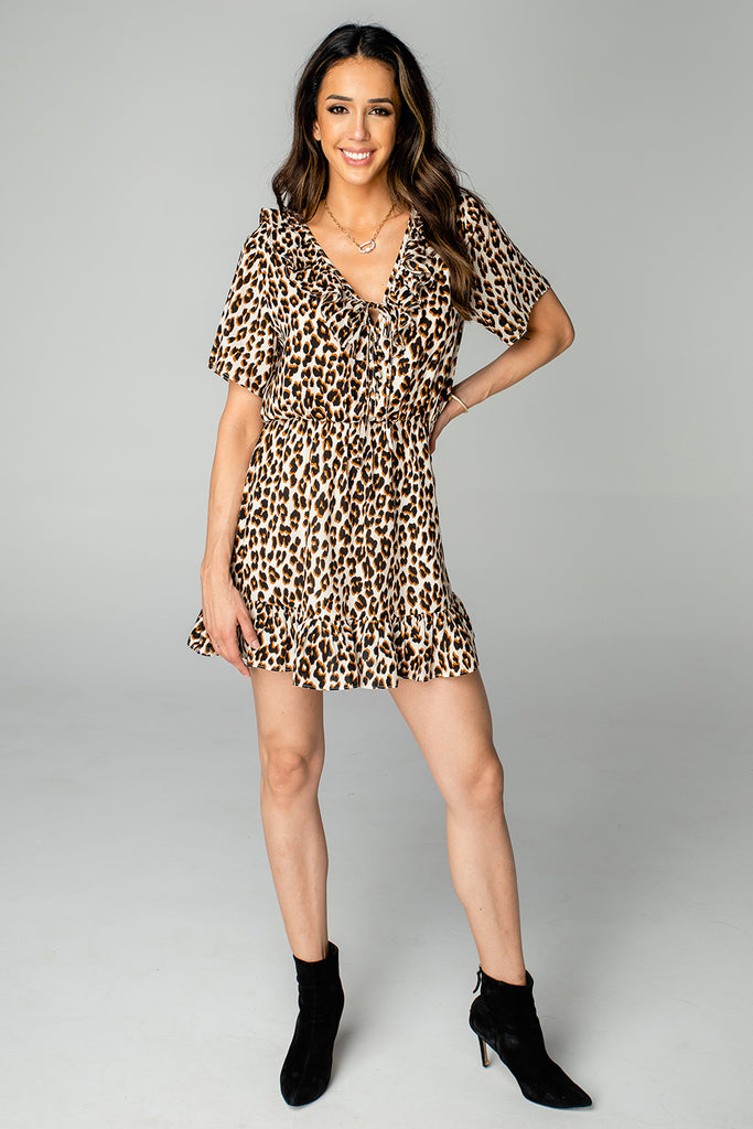BuddyLove Trixy Ruffled Mini Dress - Wildcat