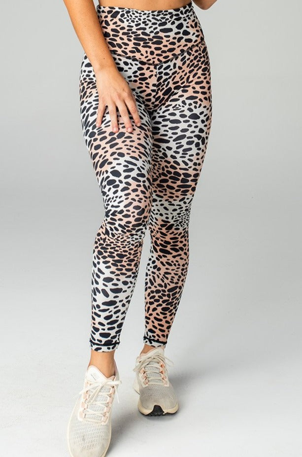 BuddyLove Michaels High-Rise Waist Leggings - Cheetah,S / Black / Feline