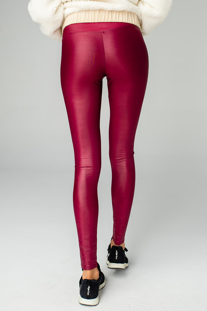 BuddyLove Jillian Lustrous High-Waisted Legging - Wine