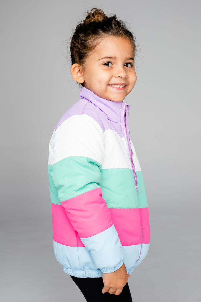 BuddyLove Willow Girl's Puffer Jacket - Pastel