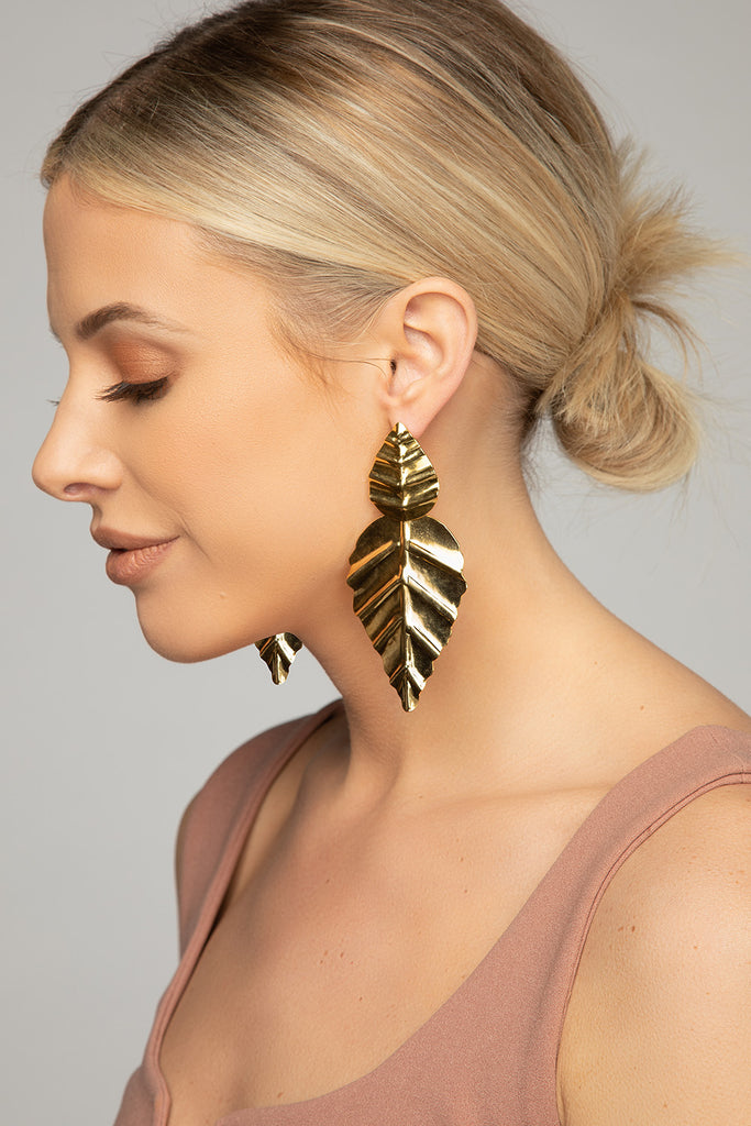 BuddyLove Corazon Earrings - Gold