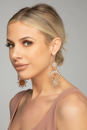 BuddyLove Gatsby Drop Earrings - Gold
