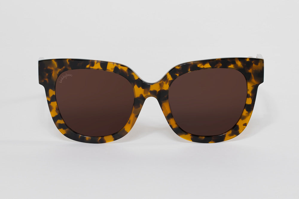 BuddyLove Heather Oversized Sunglasses - Brown,Brown