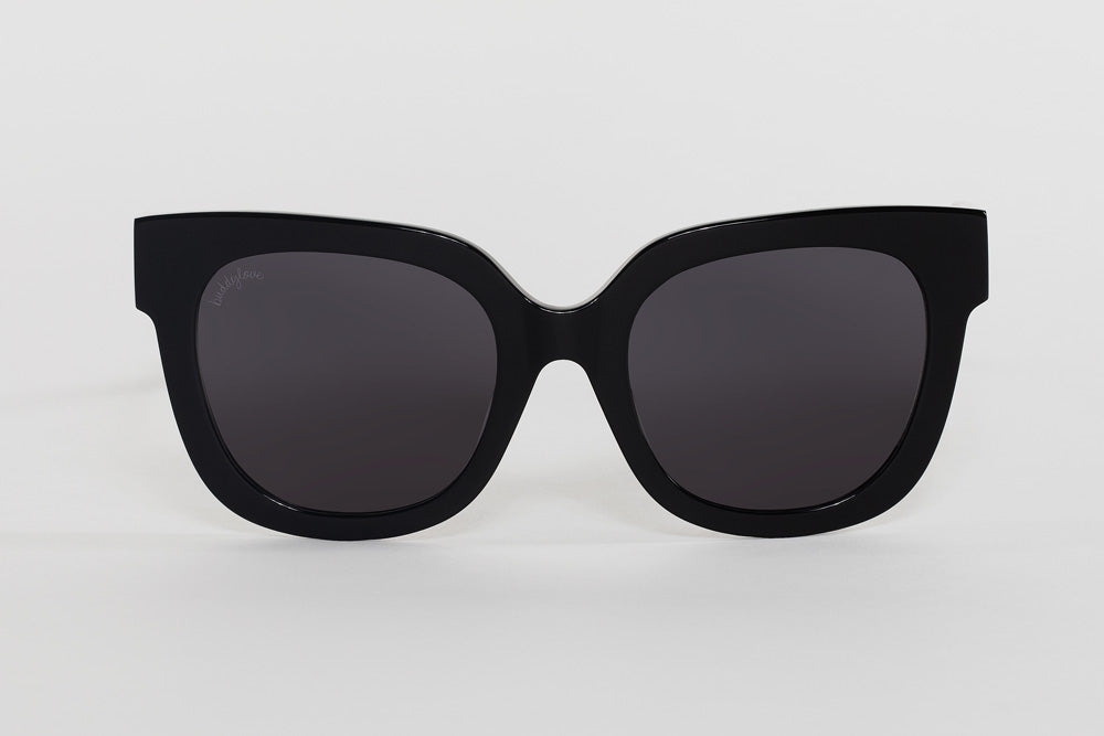 BuddyLove Heather Oversized Sunglasses - Black,Black