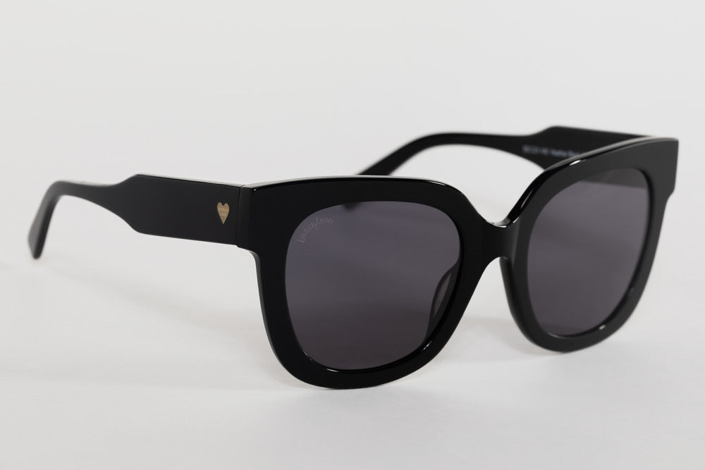 BuddyLove Heather Oversized Sunglasses - Black