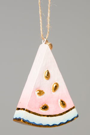 Small Watermelon Ornament - Pink