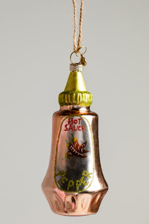 Hot Sauce Ornament - Orange