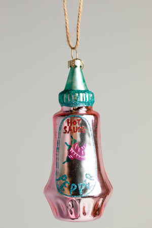 Hot Sauce Ornament - Pink