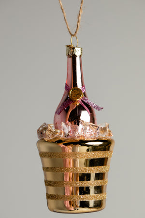 Champagne Ornament - Gold