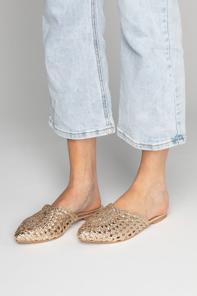 BuddyLove | 42 Gold Charmed Mule - Gold