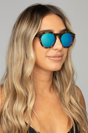 BuddyLove Val Mirrored Sunglasses Blue