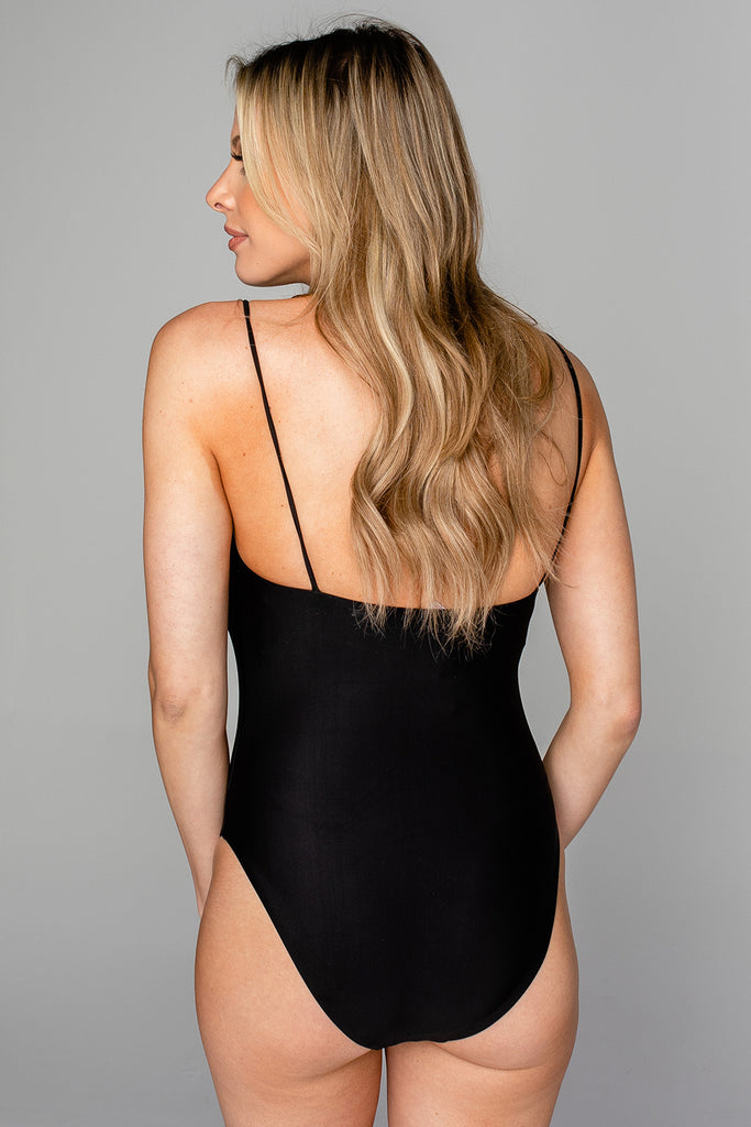 BuddyLove Polly Square Neck One Piece Swimsuit - Black