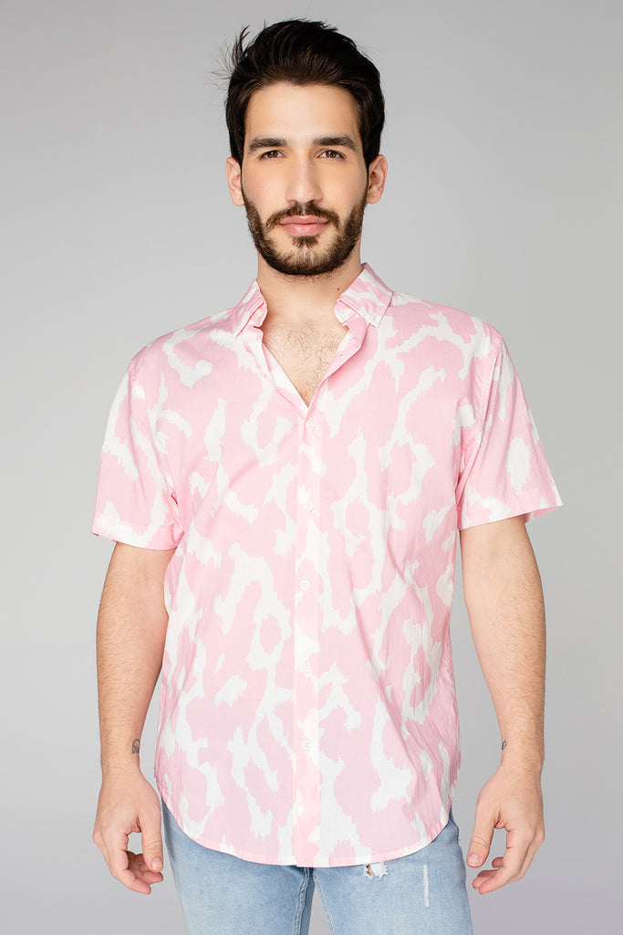 BuddyLove Robert Button Down Dress Shirt - Abstract Pink