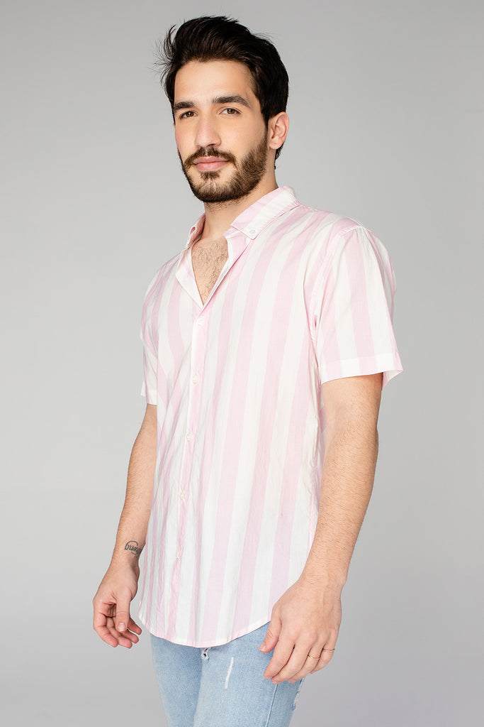 BuddyLove Robert Button Down Dress Shirt - Pink Stripe