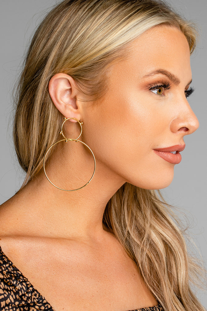 Splendid Hoop Earring - Gold