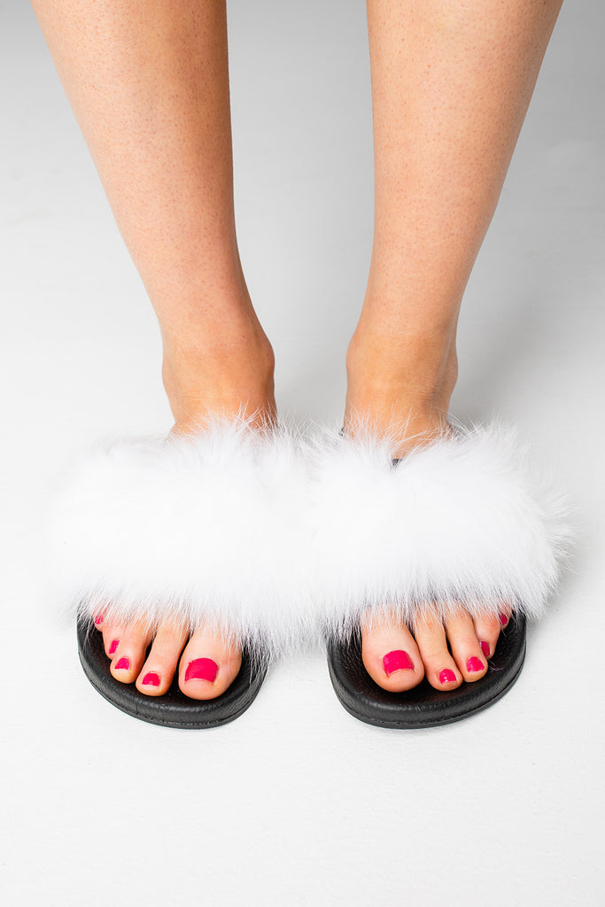 Cuddle Slippers - White
