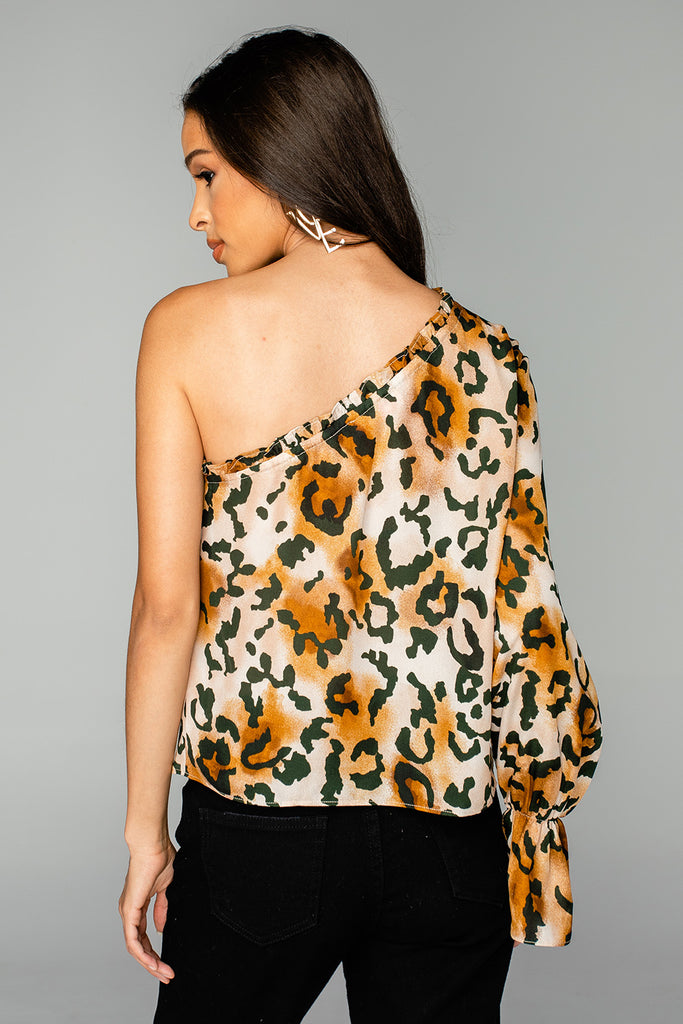 BuddyLove Siri One Shoulder Top - Lioness