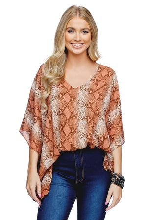 BuddyLove North Tunic Flowy Top - Desert - Buddy Love Clothing Label