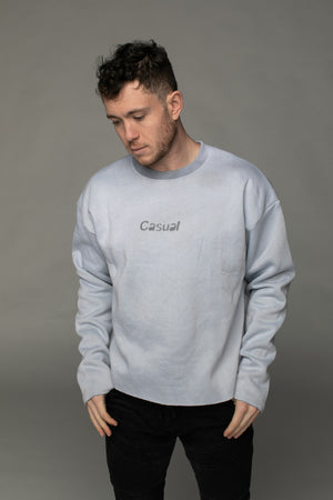 BuddyLove X Casual Graphic Sweater - Stone