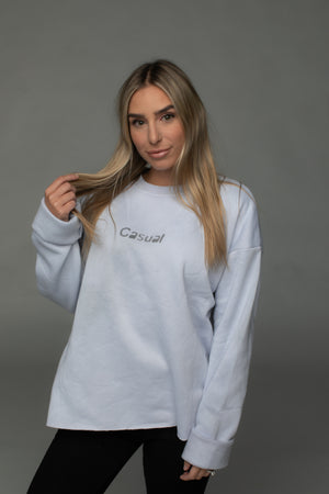 BuddyLove X Casual Graphic Sweater - Stone,S / Grey