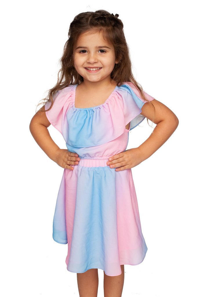 BuddyLove Kids Ainsley Top and Skirt Set - Cotton Candy,12M / Pink / Stripes