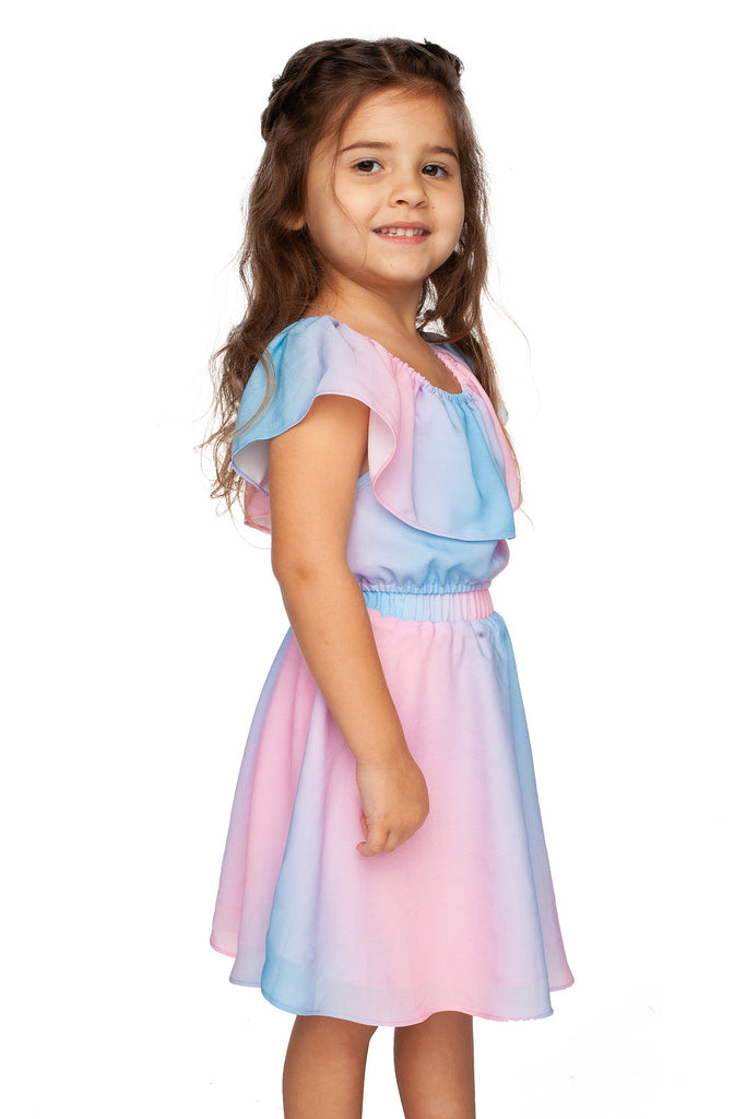 BuddyLove Kids Ainsley Top and Skirt Set - Cotton Candy