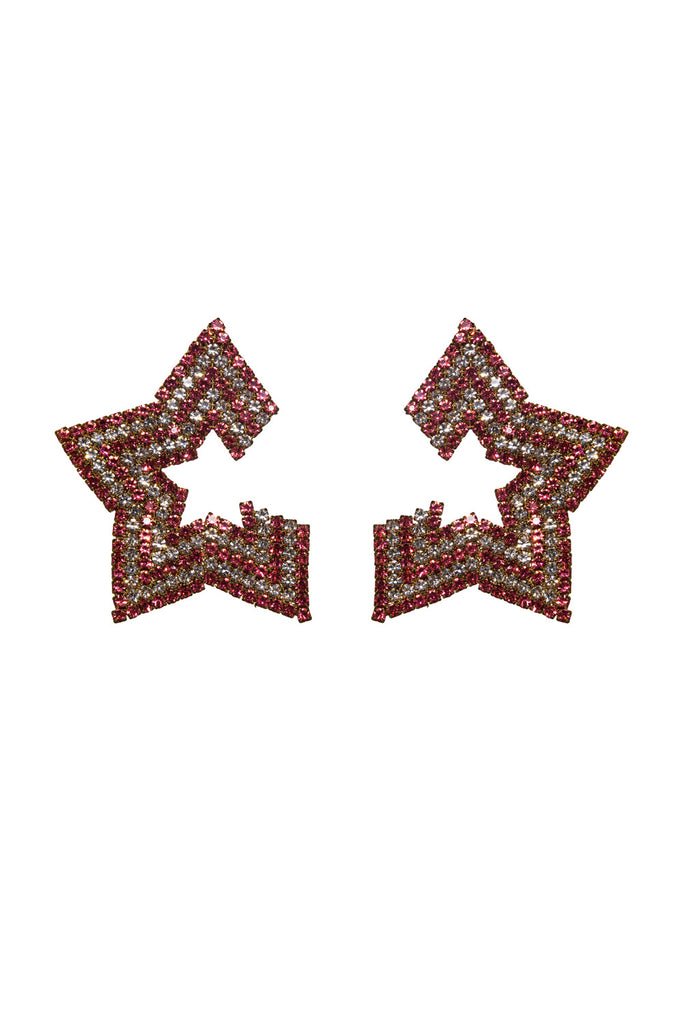 BuddyLove Aries Star Studded Earrings - Pink,Pink