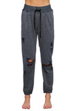 BuddyLove Austin Distressed Jogger Pant - Charcoal