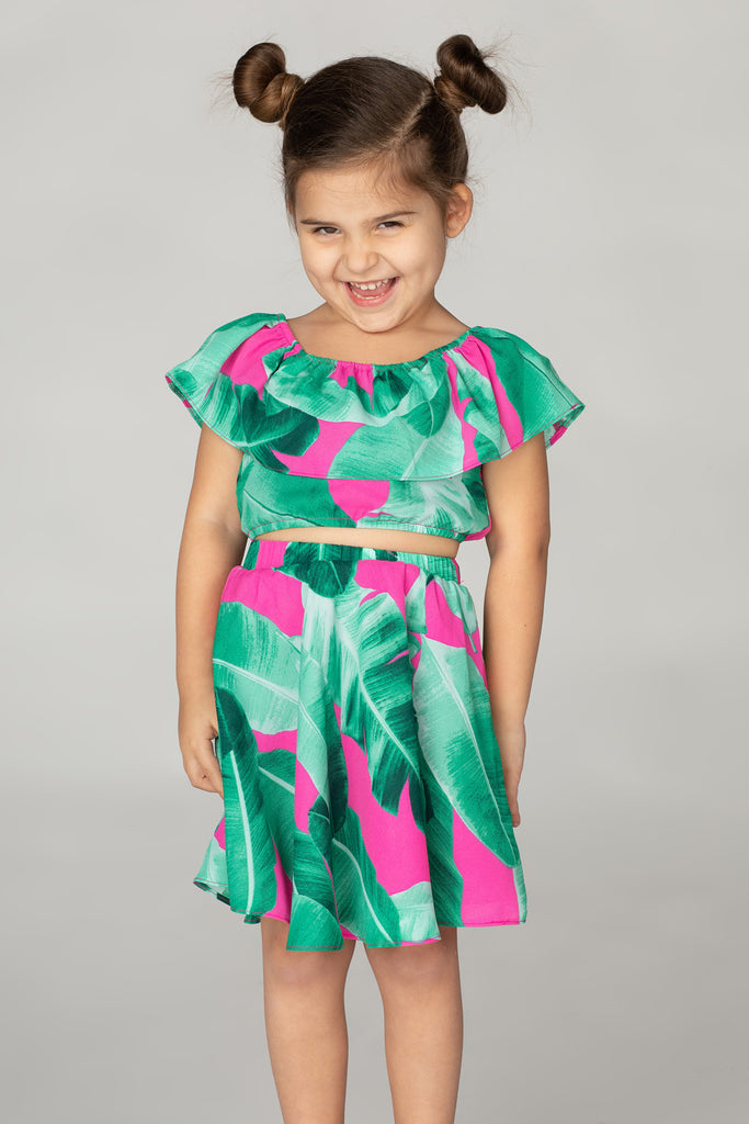 BuddyLove Kids Ainsley Top and Skirt Set - Aruba