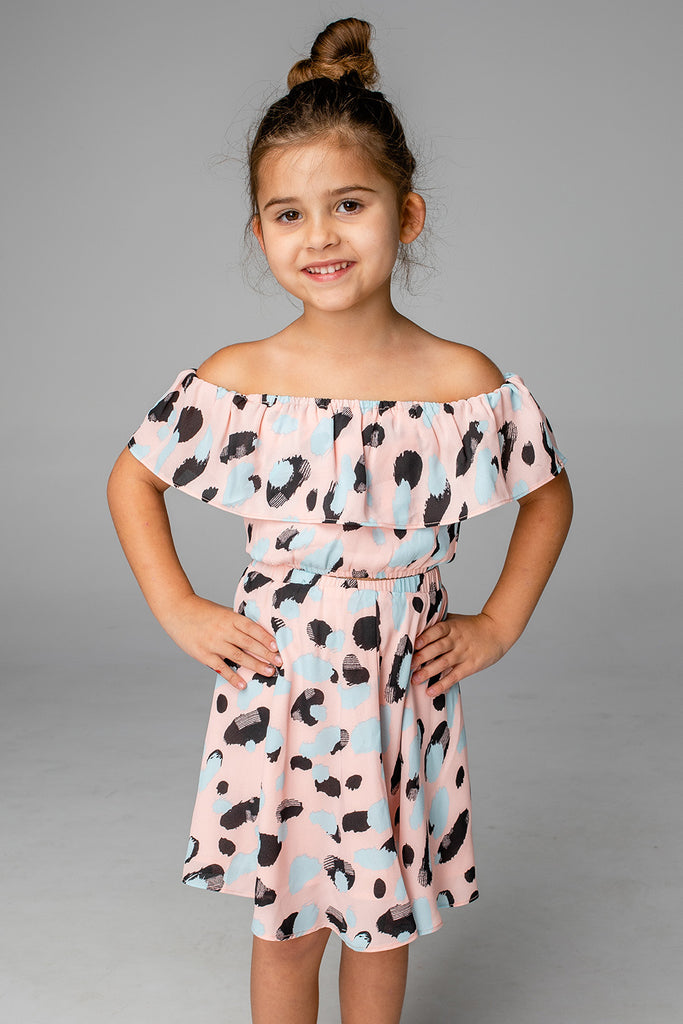 BuddyLove Ainsley Girl's Top and Skirt - Malibu