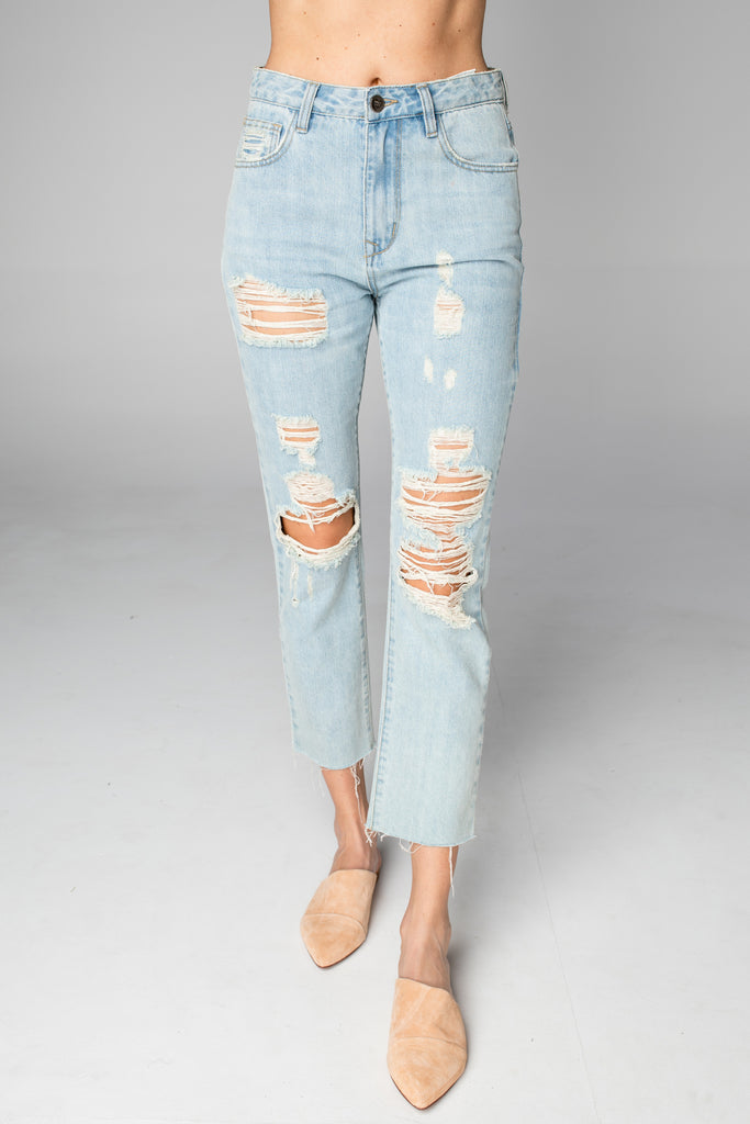BuddyLove Ryan Distressed Skinny Jeans - Light Wash