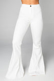 BuddyLove Moonshine High-Waisted Flared Jeans - White