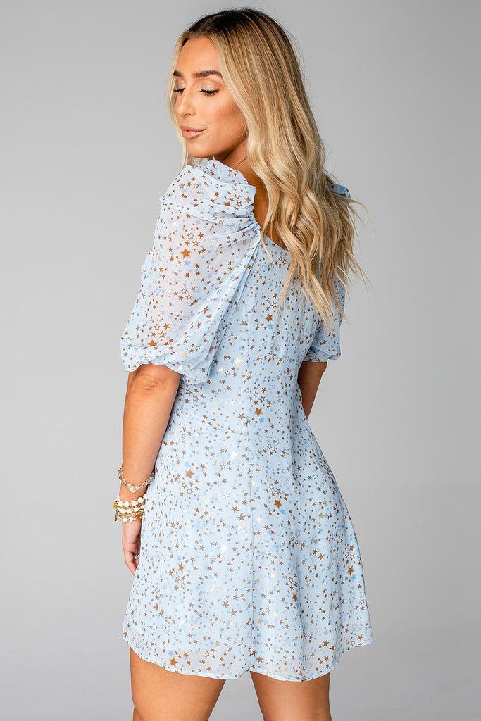 BuddyLove Jennifer Puffed Sleeve Mini Dress - Starbright