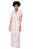 BuddyLove Natalie Short Sleeved Maxi Dress - Glass