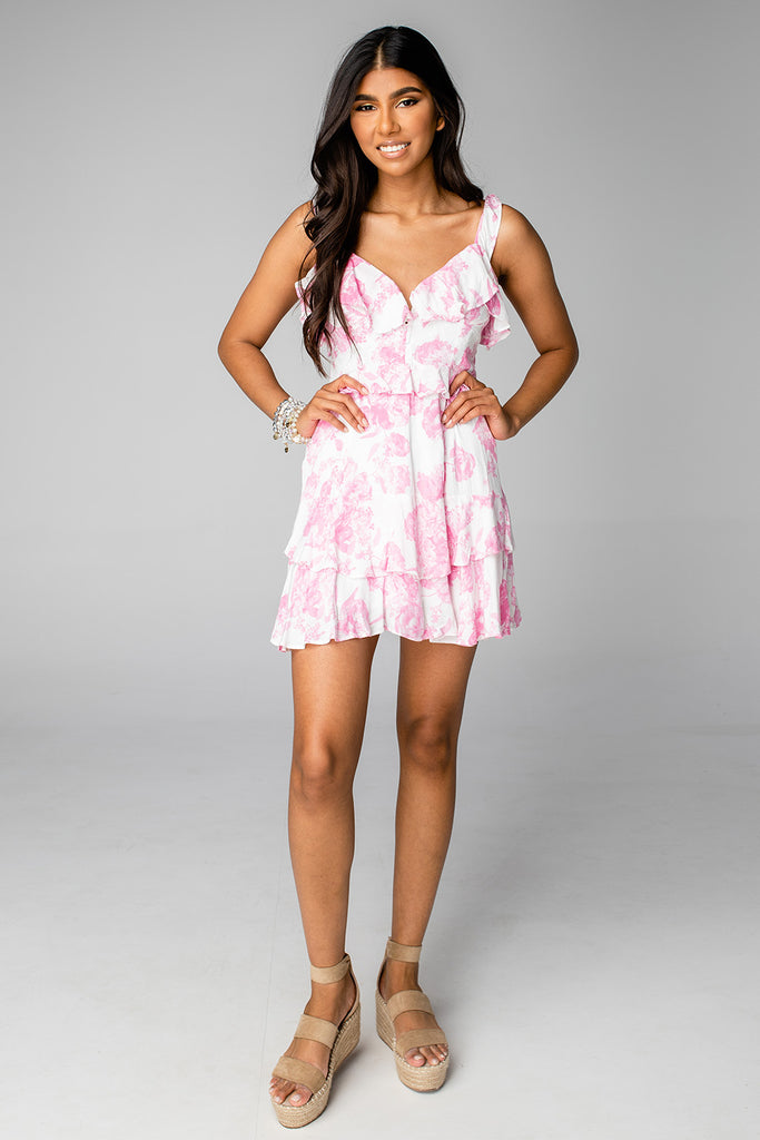 BuddyLove Julia Ruffled Mini Dress - Antique
